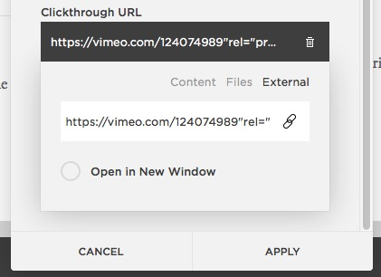 Clickthrough URL